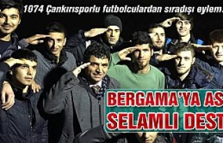 1074 Çankırıspor'dan asker selamlı destek!