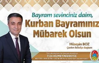 Çankırı Belediye Başkanı Hüseyin Boz'un Kurban...
