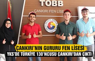 Türkiye 130'ncusu Çankırı TOBB Fen Lisesinden...