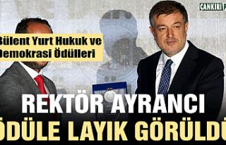 Rektör Ayrancı'ya Hukuk ve Demokrasiye katkı...