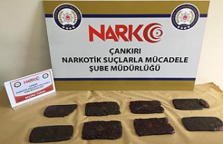 Çankırı'da 4 kilo reçine esrar ele geçirildi