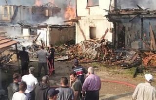 Yaprakli Ayseki'de 7 köy evi yandı!