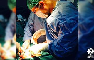 Çankırı'da vajinal histerektomi ameliyatı...
