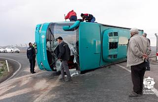 Çankırı'da Cenazeye giden otobüs devrildi:...