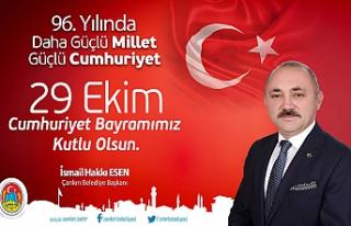 Hakkı Esen'den 29 Ekim Cumhuriyet Bayramı mesajı