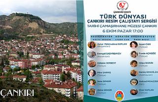 Türk Dünyası Çankırı Resim Çalıştayı Sergisi...