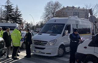 Çankırı'da Okul Servisleri Denetlendi
