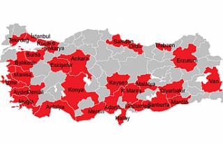 Türkiye'nin 30 büyük şehrine giriş çıkışlara...