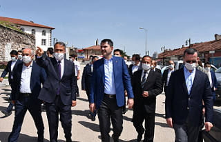 Bakan Kurum, Çerkeş'te yapımı devam projeleri...