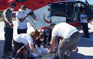 Çankırı'da hava ambulansı üzerine televizyon...
