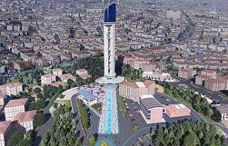 Cumhuriyet Kulesi'nin yapımı hız kesmeden devam...