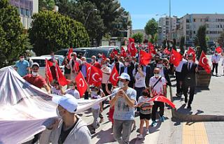 19 Mayıs Çankırı'da gençlik yürüyüşüyle...