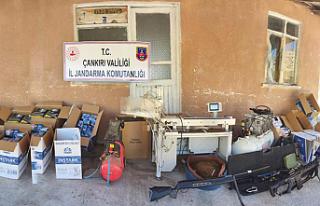Çankırı'da kaçak sigara üretim tesisi kurmuşlar