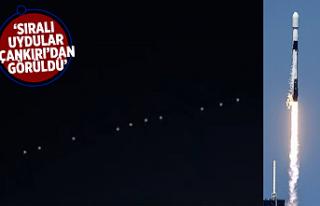 Musk'ın Starlink uyduları Çankırı'dan...