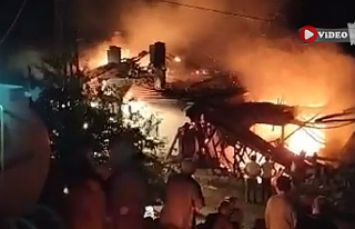 Çankırı'da samanlık ve ev yangında küle...