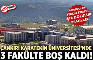 Çankırı Karatekin Üniversitesi'nde 3 Fakülte...