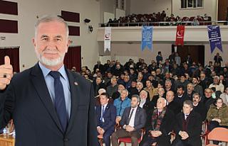 Saadet Partisi Çankırı İl Teşkilatı kongreye...