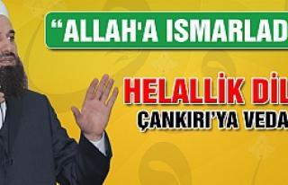 Ahmet Mollamehmetoğlu Çankırı'ya veda etti.