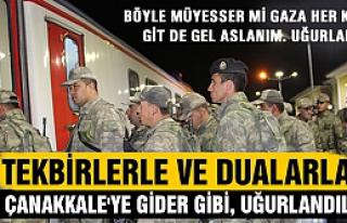 Askeri birlik Çankırı'dan tekbirlerle uğurlandı!