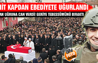 Bitlis şehidimiz Çankırı'da son yolculuğuna...
