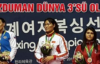 Bozduman kadınlar  boksta Dünya 3'sü