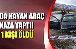 Buzda kayan araç kaza yaptı! 1 ölü 5 yaralı...