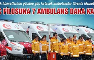 Çankırı 112 Araç filosuna 7 ambulans katıldı!