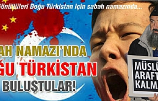 Çankırı'da Doğu Türkistan için dua!