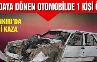 Çankırı'da meydana gelen trafik kazasında 1 kişi...