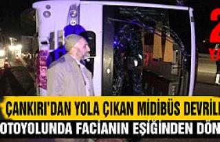 Çankırı'dan yola çıkan gezi midibüs devrildi:...