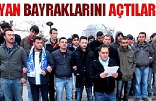 Çankırıspor'lu taraftarlar yönetimi protesto etti