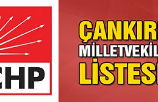 CHP'de Çankırı milletvekili aday listeleri belli...