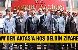 İl Genel Meclisi'nden Vali Aktaş'a hoş geldin...
