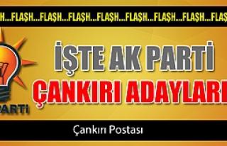 İşte Ak Parti Çankırı adayları!