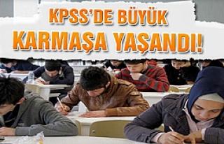 KPSS'de büyük karmaşa yaşandı!