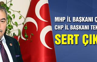 MHP İl Başkanı Çelik'ten CHP İl Başkanı Tekin'e...