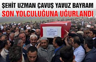 Şehit Uzman Çavuş Yavuz Bayram son yolculuğuna...