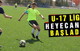 U-17 Futbol ligi heyecanlı  başladı
