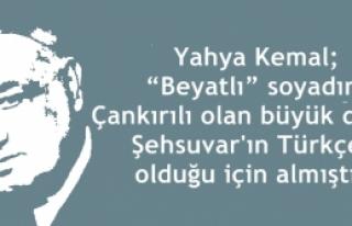Yahya Kemal Beyatlı Çankırılı Şehsuvar Paşanın...