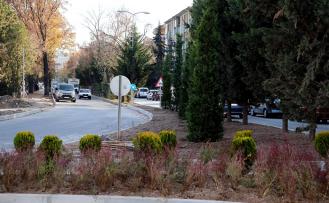 Yanlar Caddesi'nde Kavşak ve Orta Refüje Peyzaj Düzenlemesi