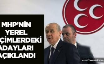 MHP Çankırı'da 6 ilçe 3 belde adayını daha açıkladı!