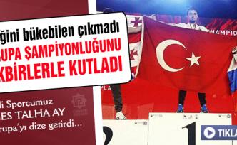 Çankırılı Milli Sporcu Avrupa Şampiyonluğunu tekbirlerle kutladı