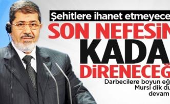 Mursi: Son nefesime kadar direneceğim