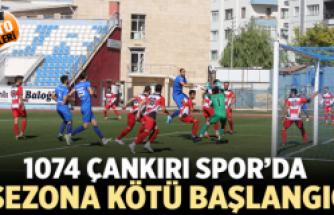 1074 Çankırıspor'dan sezona kötü başlangıç