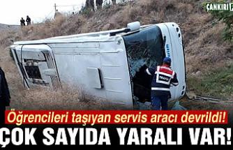 Çankırı'da öğrenci servisi kaza yaptı!