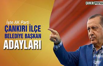 AK Parti Çankırı İlçe adayları resmen açıklandı!