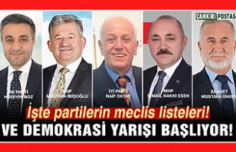 İşte partilerin meclis listeleri