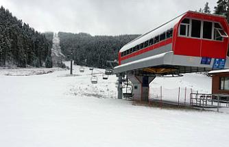 Yıldıztepe'ye beklenen kar yağmaya başladı!