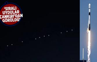 Musk'ın Starlink uyduları Çankırı'dan da görüldü
