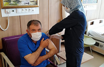 Çankırı'da 100 bininci doz aşı uygulandı!